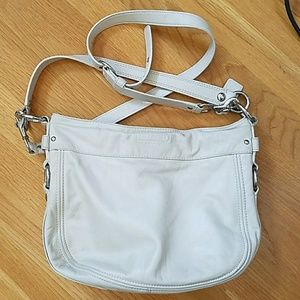 Coach leather purse cream